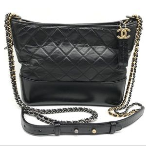 Chanel Aged Calfskin Gabrielle Hobo Shoulder Bag